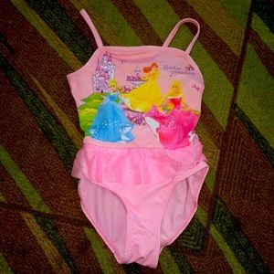 EUC Disney Princess little girl bathing suit